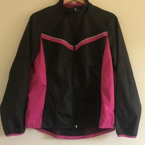 PINK & BLACK LIGHT WEIGHT ATHLETIC JACKET
